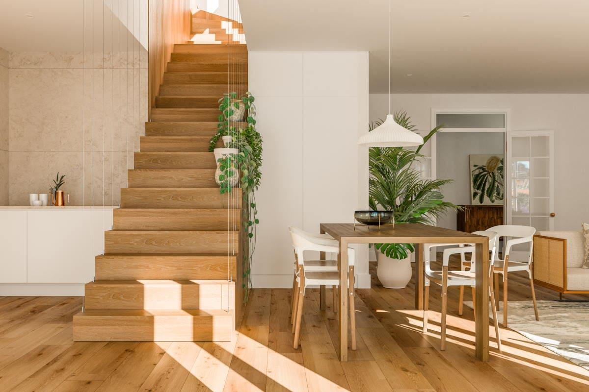 Third & fourth floor living-room