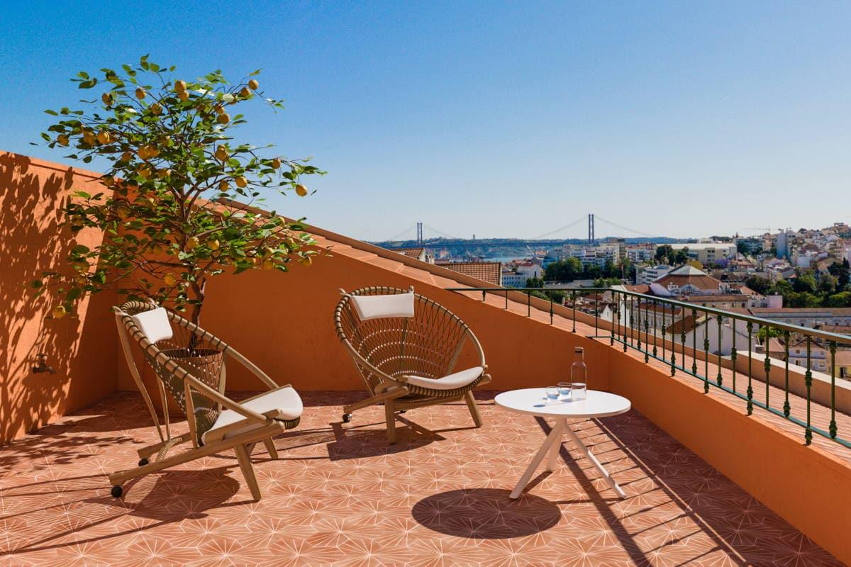 Third & fourth floor terrace